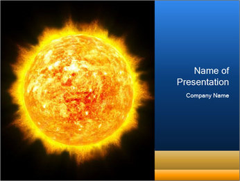 Sun in Galactic PowerPoint Template