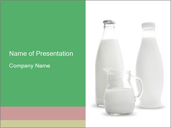 Cottage Milk in Glass Bottles PowerPoint Template