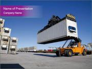 Crane Loading Huge Container PowerPoint Templates