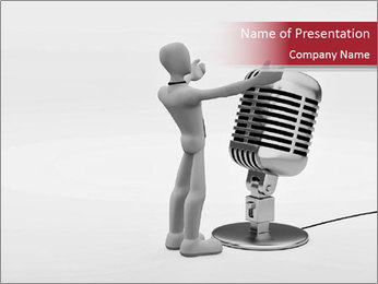 Leader and Microphone PowerPoint Template