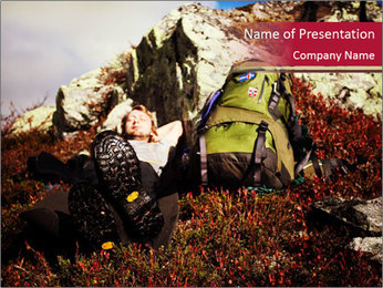 Hiking Tour in Norway PowerPoint Template