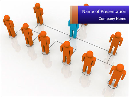 team structure powerpoint template & backgrounds id 0000028876, Powerpoint templates