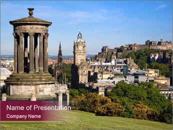 Antient Scottish Castle PowerPoint Template