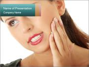Woman Feeling Sharp Toothache PowerPoint Templates
