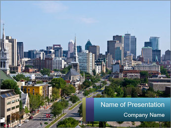 Beautiful Montreal City PowerPoint Template