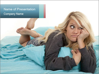 Bored Woman PowerPoint Template