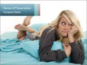 Bored Woman PowerPoint Templates