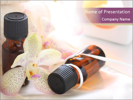 Bottle with essential oil and orchid powerpoint template bottle with essential oil and orchid powerpoint templates toneelgroepblik Image collections