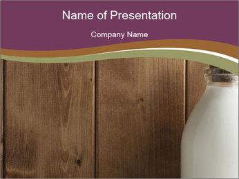 Milk in Glass Bottle PowerPoint Template