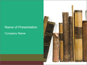 Collection of Old Books PowerPoint Template