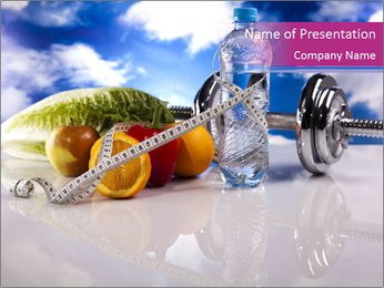 Combine Sport and Healthy Diet PowerPoint Template