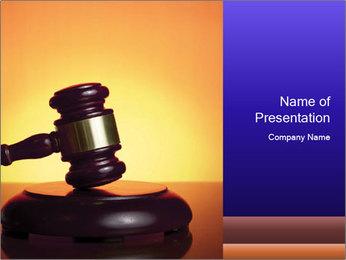 Wooden Judge Gavel PowerPoint Template