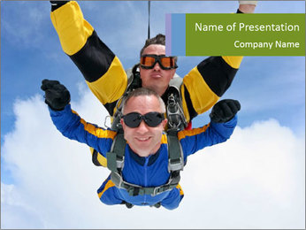Tandem of Two Skydivers PowerPoint Template