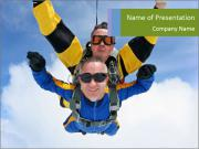 Tandem of Two Skydivers PowerPoint Templates