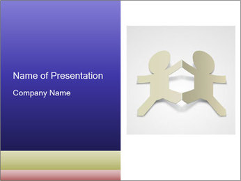 Two Paper Men Together PowerPoint Template