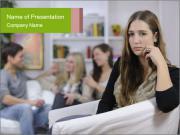 Woman Jealousing her Boyfriend PowerPoint Templates