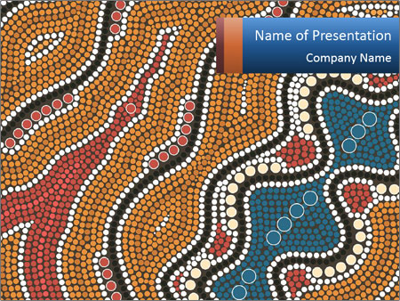 Aboriginal dot painting powerpoint template backgrounds id aboriginal dot painting powerpoint template toneelgroepblik Images