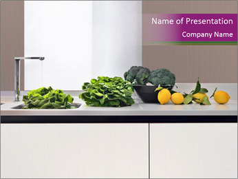 Vegetables on the Table in the Kitchen PowerPoint Template
