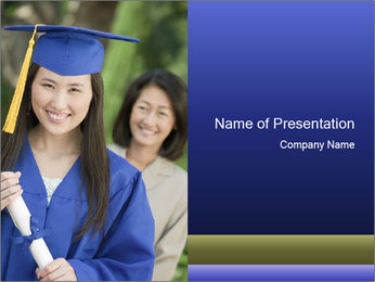 Graduate from Asian University PowerPoint Template