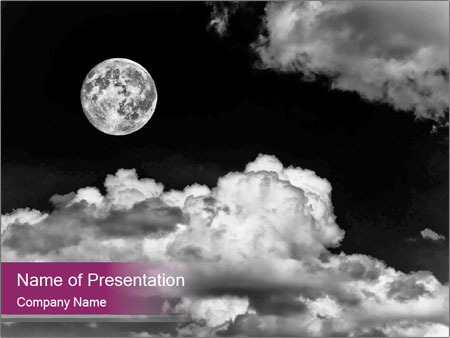 scary full moon powerpoint template amp backgrounds id