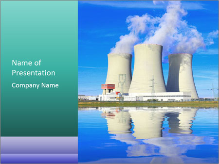 Big Nuclear Power Station PowerPoint Template Backgrounds Google