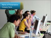 Computer Class for Beginners PowerPoint Templates