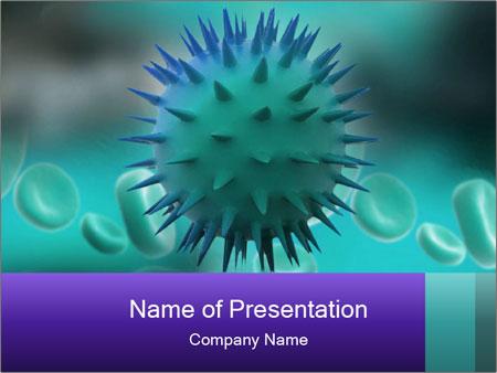 virus mutation powerpoint template & backgrounds id 0000029303, Modern powerpoint