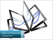Four Digital Tablets Шаблоны презентаций PowerPoint