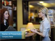 Business Woman Checking into Hotel PowerPoint Templates