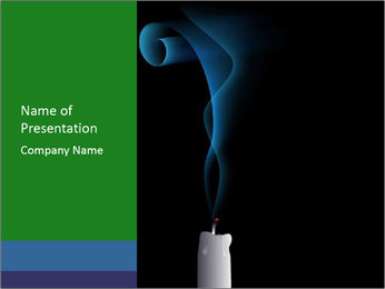 Blown Candle PowerPoint Template