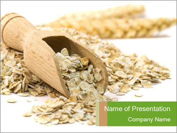 Organic Oatmeal Flakes PowerPoint Template