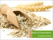 Organic Oatmeal Flakes PowerPoint Templates