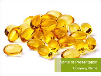 Pile of Omega 3 Capsules PowerPoint Template