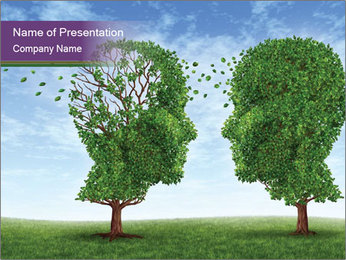 Head-Shaped Trees PowerPoint Template