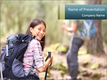 Treck in the Forest PowerPoint Template
