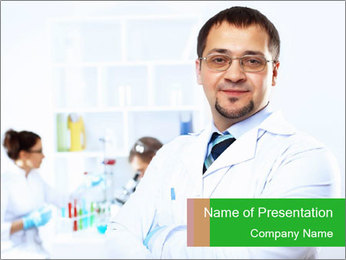 Scientist Working in Laboratory PowerPoint Template
