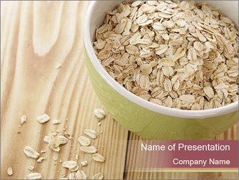 Organic Oatmeal PowerPoint Template