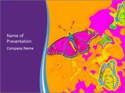 Butterfly Art Painting Шаблоны презентаций PowerPoint