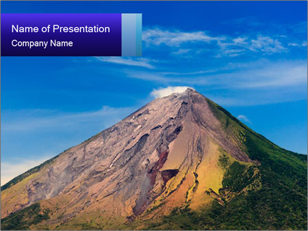 Volcano In Central America Powerpoint Template Backgrounds Google