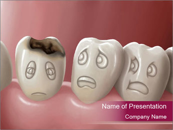 Caries on Tooth PowerPoint Template