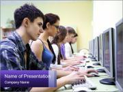 Internet Cafe Шаблоны презентаций PowerPoint