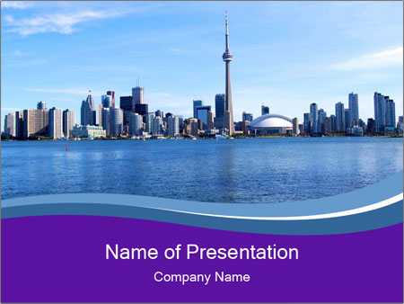 Trip To Toronto City Powerpoint Template Backgrounds Google