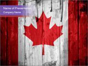 Flag of Canada Modèles des présentations  PowerPoint