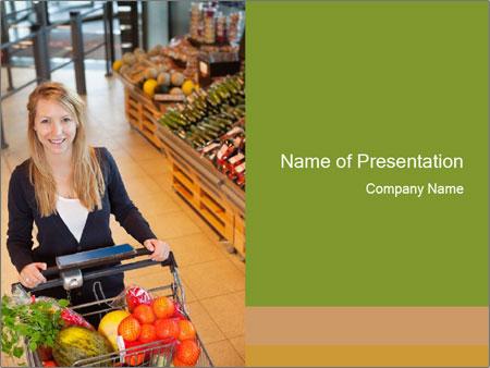 Supermarket powerpoint template smiletemplates organic supermarket powerpoint template toneelgroepblik Gallery