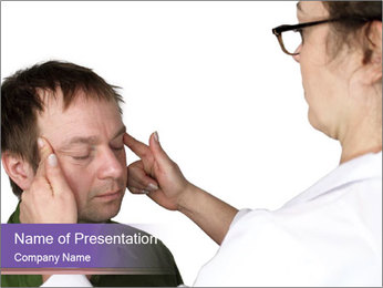 Acupressure Doctor PowerPoint Template