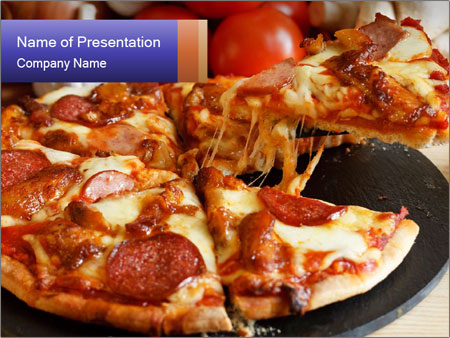 papperoni pizza powerpoint template backgrounds id 0000029829