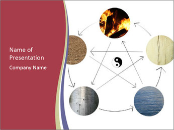 Five Elements Theory Sjablonen PowerPoint presentatie