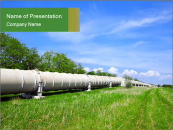 Transit Gas Pipe PowerPoint Template