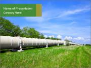 Transit Gas Pipe PowerPoint Templates