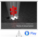 3D Puzzel Animated PPT Sjablonen